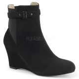 Black Suede 7,5 cm KIMBERLY-102 big size ankle boots womens