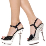 Black Transparent 14 cm ALLURE-609 Platform Stiletto High Heels