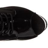 Black Transparent 18 cm ADORE-1021 womens platform soled ankle boots