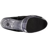 Black Transparent 20 cm FLAMINGO-1021 womens platform soled ankle boots