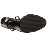 Black Varnish 12 cm FLAIR-436 High Heels for Men
