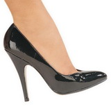 Black Varnished 13 cm SEDUCE-420V pointed toe pumps with high heels