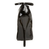 Black Varnished 15,5 cm DOMINA-431 Pumps with low heels