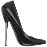 Black Varnished 16 cm DAGGER-01 Women Pumps Shoes Stiletto Heels