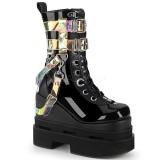 Black Vegan 12,5 cm ETERNAL-115 demonia ankle boots wedges