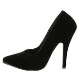 Black Velvet 13 cm SEDUCE-420 Pumps High Heels for Men