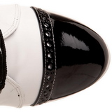Black White 10,5 cm EXOTICA-1050 womens platform soled ankle boots