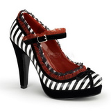 Black White 11,5 cm BETTIE-18 Womens Shoes with High Heels