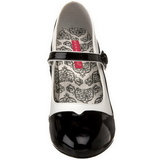 Black White 11,5 cm rockabilly TEMPT-07 Womens Shoes with High Heels