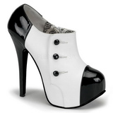 Black White 14,5 cm Burlesque TEEZE-20 Womens Shoes with High Heels