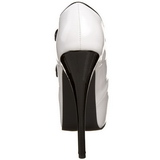 Black White 14,5 cm Burlesque TEEZE-23 Womens Shoes with High Heels