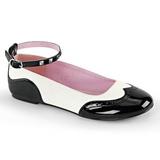 Black White STAR-22 gothic ballerina shoes flat heels