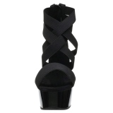 Black elasticated band 15 cm DELIGHT-669 pleaser womens shoes