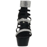 Black gladiator 15 cm KISS-294 High Heeled Sandal Shoes