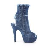 Blue 15 cm DELIGHT-1030 Canvas high heels chucks