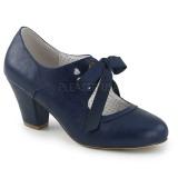 Blue 6,5 cm WIGGLE-32 retro vintage cuben heels maryjane pumps