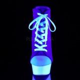 Blue Neon 15 cm DELIGHT-600SK-02 Canvas high heels chucks