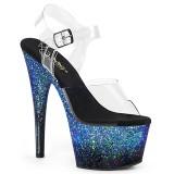 Blue glitter 18 cm ADORE-708SS Pole dancing high heels shoes