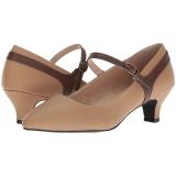 Brown Leatherette 5 cm FAB-425 big size pumps shoes