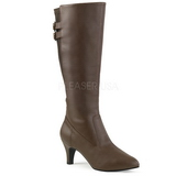 Brown Leatherette 7,5 cm DIVINE-2018 big size boots womens