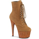 Camel glitter 18 cm ADORE-1020FSMG Exotic pole dance ankle boots