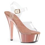 Chrome 15 cm Pleaser KISS-208 Platform High Heels Shoes