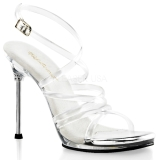 Clear 11,5 cm CHIC-07 High Heeled Stiletto Sandal Shoes