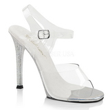 Clear 11,5 cm GALA-08MG High Heeled Stiletto Sandal Shoes