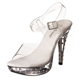 Clear Rhinestone 13 cm COCKTAIL-508SDT Acrylic High Heeled Sandal