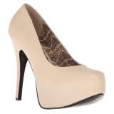 Cream Leatherette 14,5 cm Burlesque TEEZE-06W mens pumps for wide feets