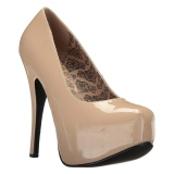 Cream Patent 14,5 cm Burlesque TEEZE-06W mens pumps for wide feets