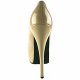 Cream Shiny 14,5 cm Burlesque BORDELLO TEEZE-06 Platform Pumps