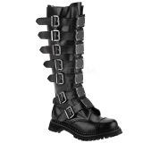 Genuine leather RIOT-21MP demonia boots - unisex steel toe combat boots
