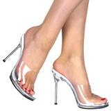 Gjennomsiktig 11,5 cm FABULICIOUS CHIC-01 høye hæler damer mules