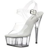 Gjennomsiktig 15 cm Pleaser DELIGHT-608 høye hæler damer sko