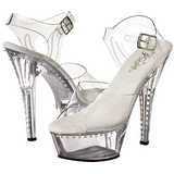 Gjennomsiktig 15 cm Pleaser KISS-208LS høye hæler damer sko