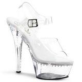 Gjennomsiktig 16 cm Pleaser KISS-208LS høye hæler damer sko