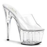 Gjennomsiktig 18 cm Pleaser ADORE-701LS høye hæler damer slipper