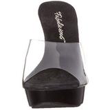 Gjennomsiktig Svart 14 cm COCKTAIL-501 høye hæler damer mules