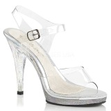 Glitter 12 cm FLAIR-408MG Acrylic Platform High Heeled Sandal
