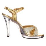 Gold Glitter 12 cm FLAIR-419G Womens High Heel Sandals