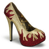 Gold Glittering Stones 14,5 cm TEEZE-27 Womens High Heels Shoes