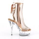 Gold Mesh 16 cm Pleaser DELIGHT-1018MSH Platform Ankle Calf Boots