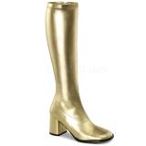 Gold Pu 8,5 cm Funtasma GOGO-300 Women Knee Boots