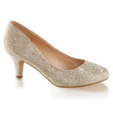 Gold Rhinestone 6,5 cm DORIS-06 High Heeled Evening Pumps Shoes
