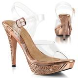 Gold Rose 11,5 cm ELEGANT-408 høye hæler poseringssko bikinifitness