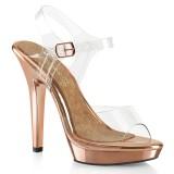 Gold Rose 13 cm LIP-108 høye hæler poseringssko bikinifitness