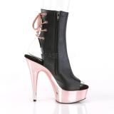 Gold chrome platform 15 cm DELIGHT-1018 Platform Ankle Calf Boots