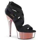 Gold chrome platform 15 cm DELIGHT-669 pleaser womens shoes