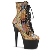 Gold snake pattern 18 cm ADORE-1020SP Exotic pole dance ankle boots
